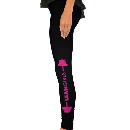 Lean Girls Leggings #MeanGirls #LeanGirls #Zazzle #GirlsWhoLift #GilrsWhoWorkout #Gym #Squat #Squatlife #Quotes #Lift #Weightlifting Pink and Black #Workout