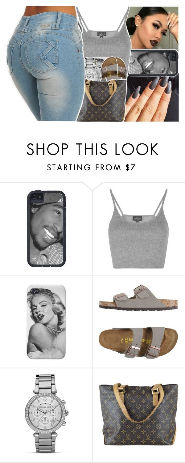"""lil late but Happy Thanksgiving🍂"" by daeethakidd ❤ liked on Polyvore featuring Topshop, Birkenstock, MICHAEL Michael Kors and Louis Vuitton"