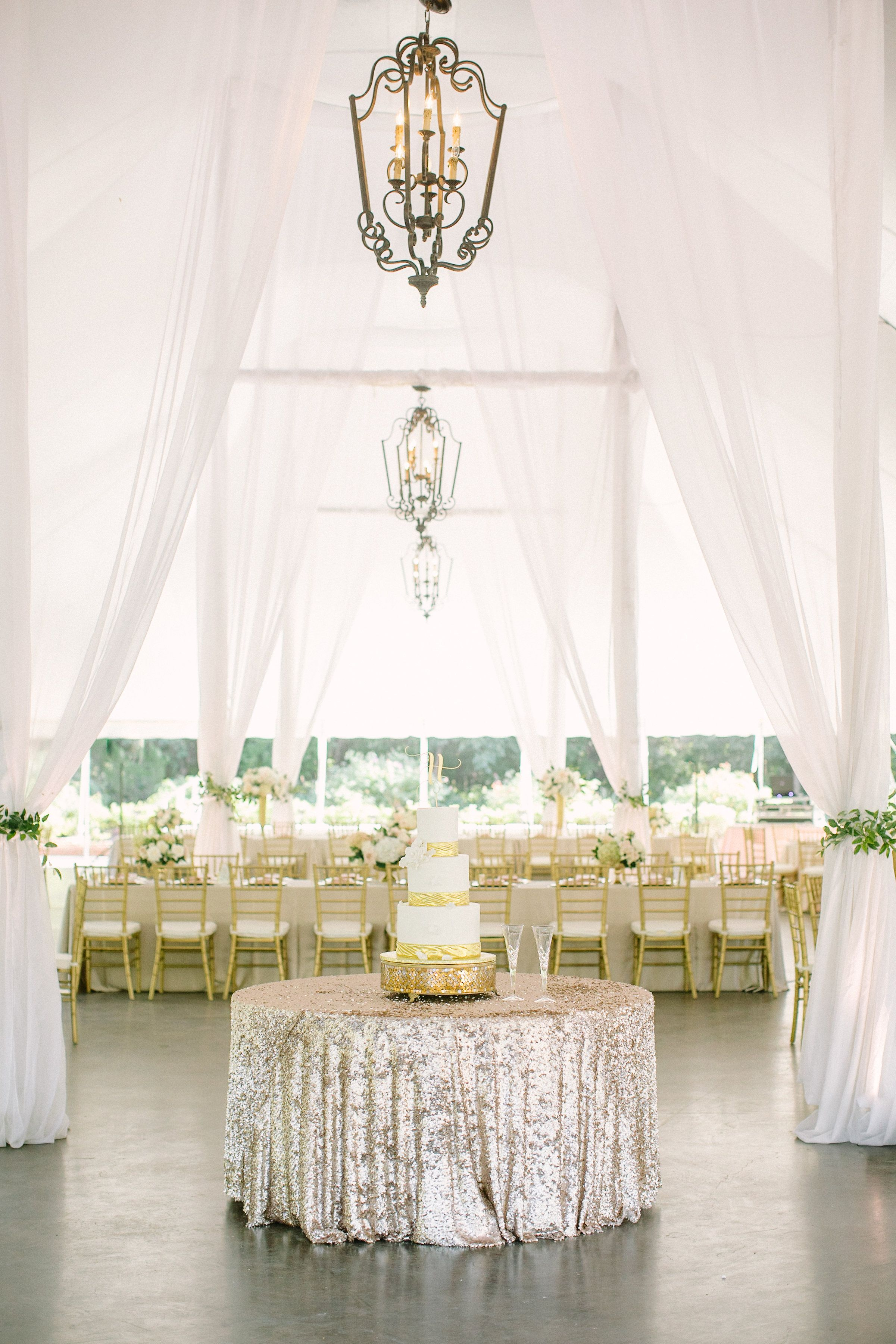 Tented garden wedding reception. Photo Credit Ellen