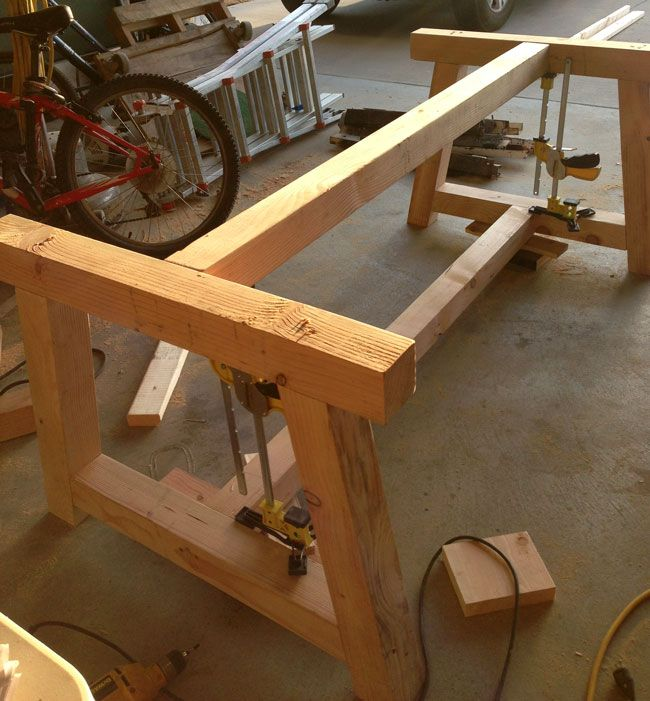How to build a farm table and instructions creative w Diy farmhouse table