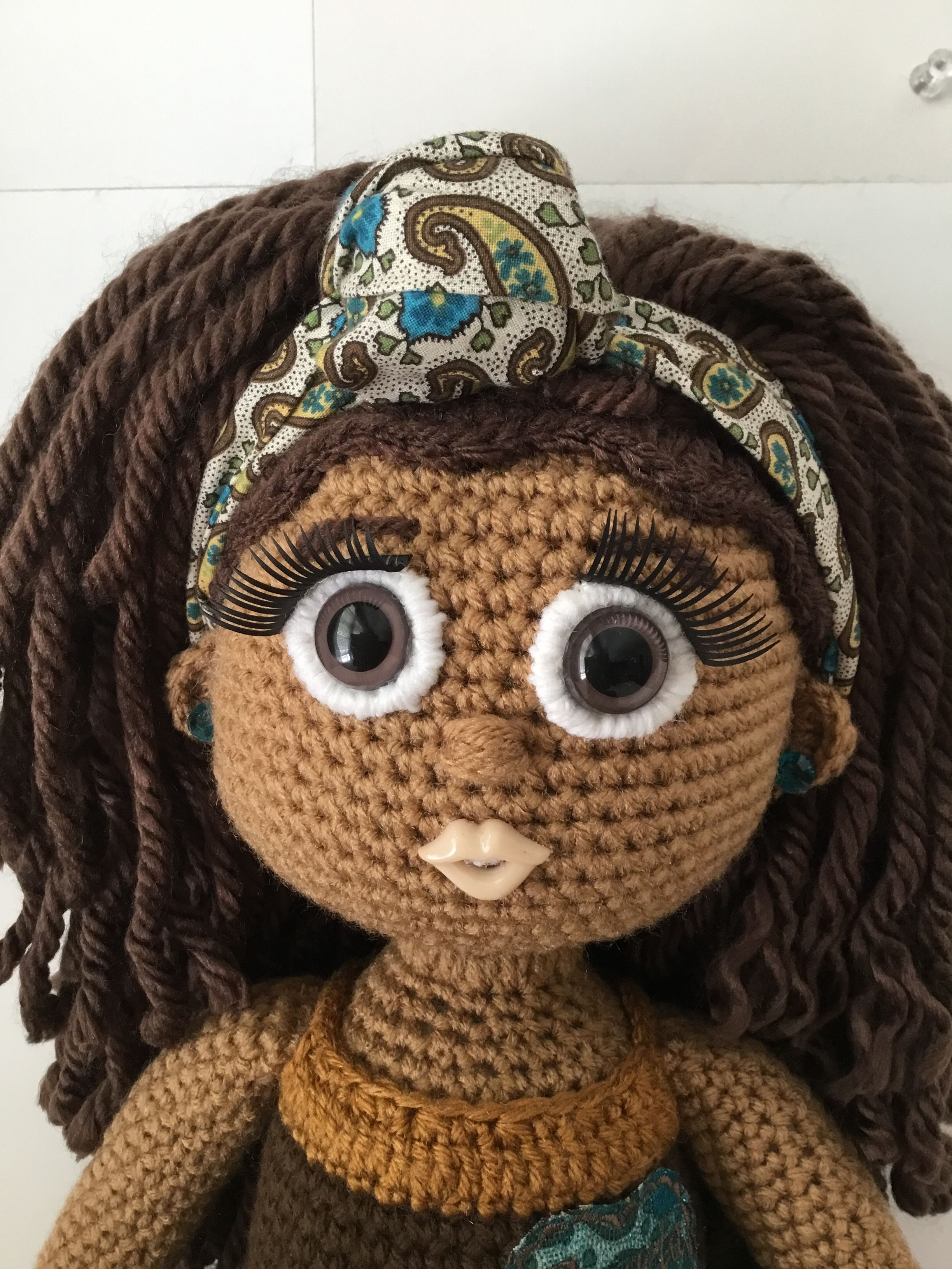 Two Strand Twist With Knotted Headband Crochet Dolls
