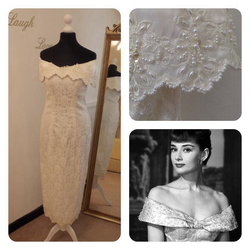 Off The Shoulder Wedding Dress From Vintage Lane In Bolton