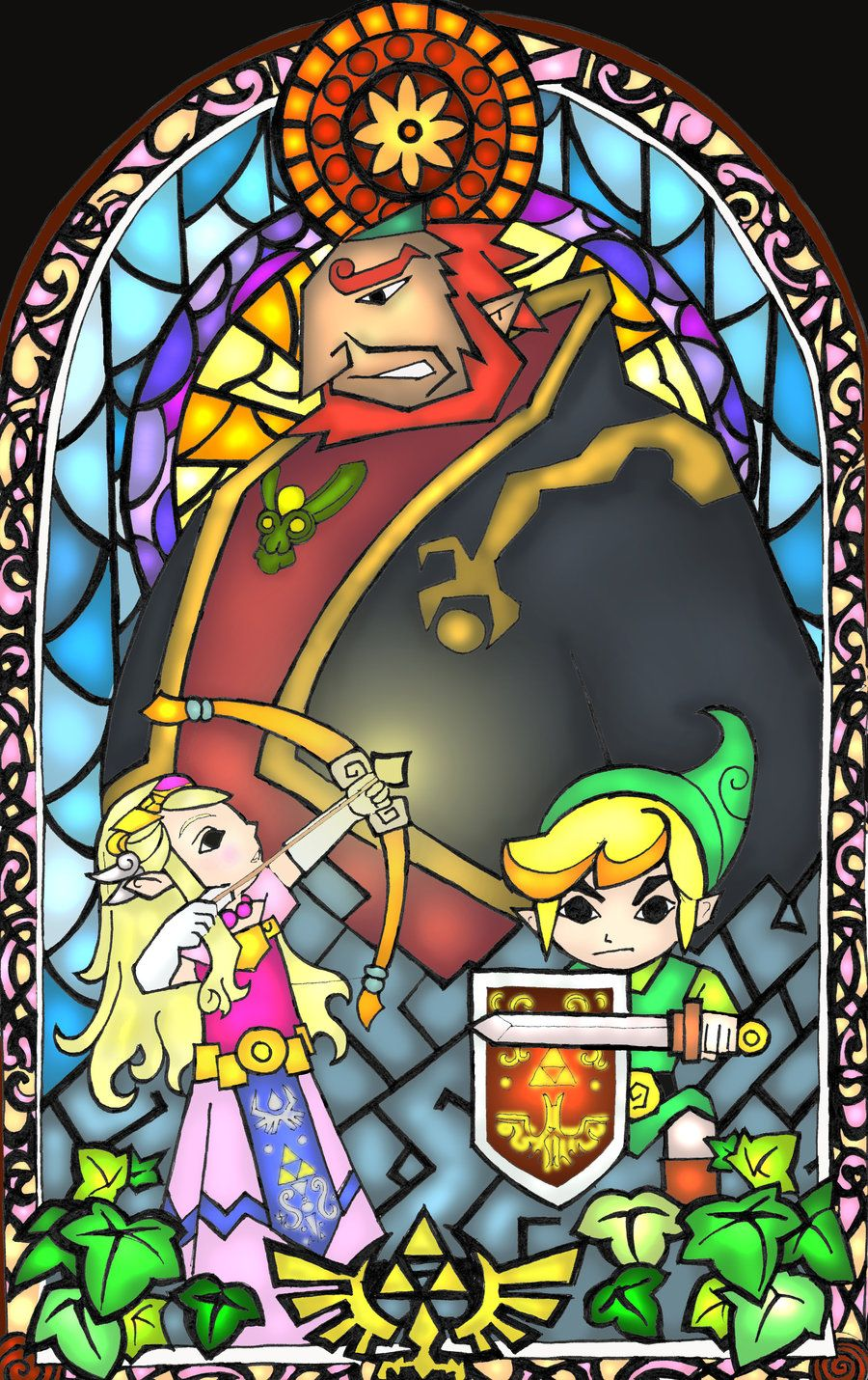 Zelda Stained Glass Art | wind waker stained glass fanart by aiduqui ...