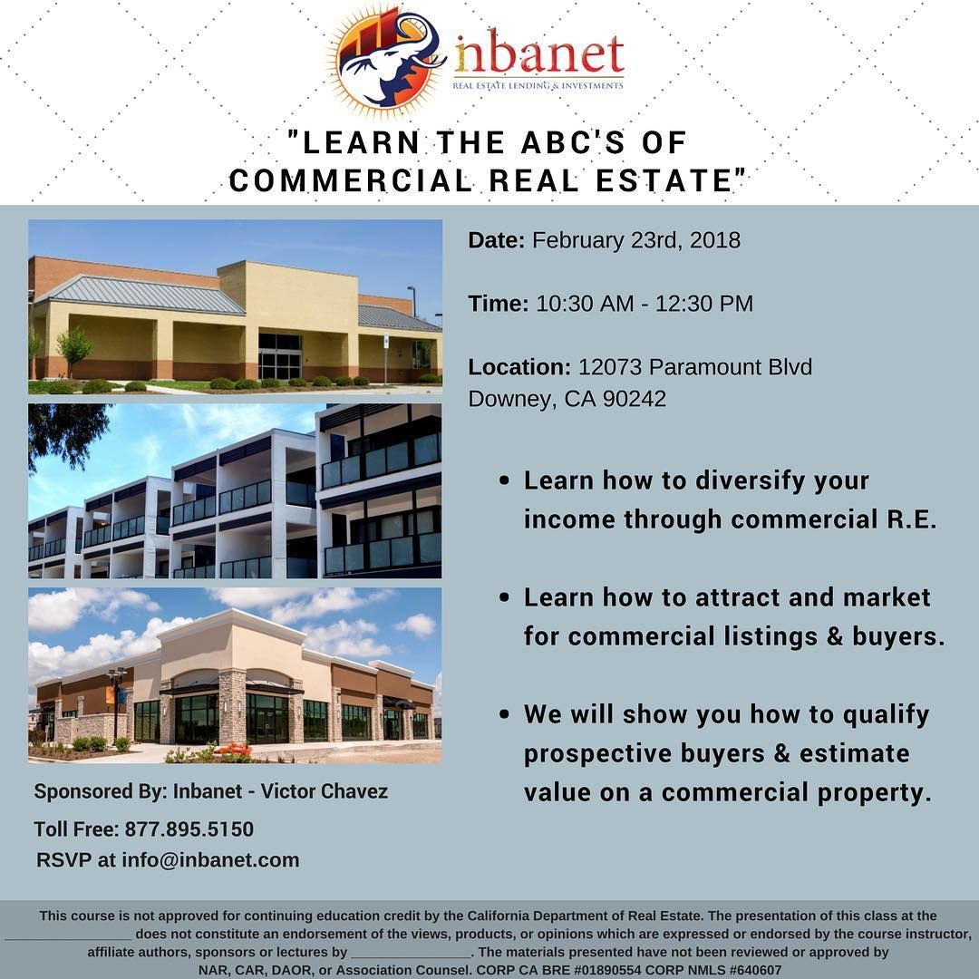 Commercial Real Estate Training Coming Soon Feb 23rd Dont Miss
