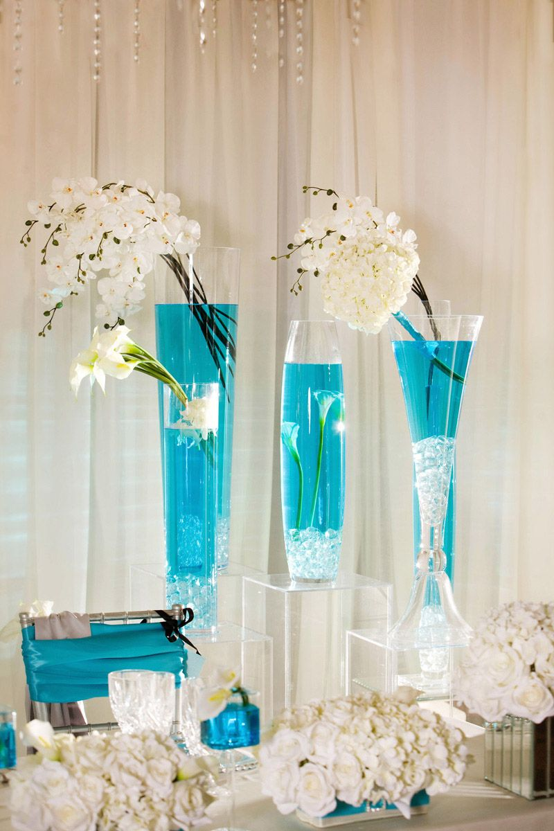 White Rose Gold And Touch Of Turquoise Wedding Decor Google