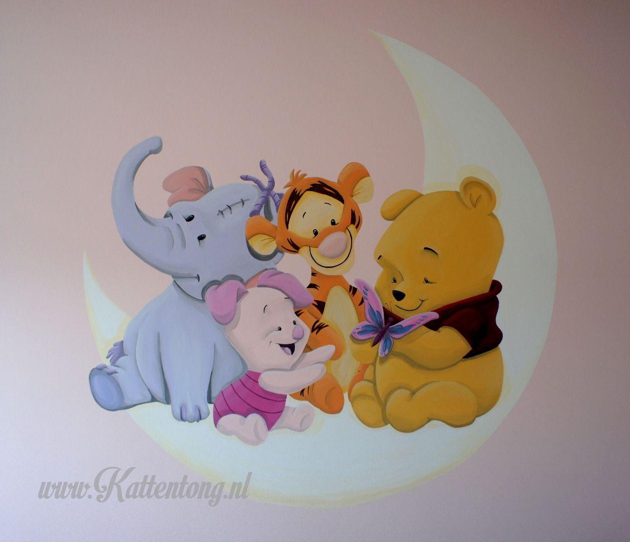 Winnie the pooh muurschildering door kattentong - Winnie pooh babyzimmer ...