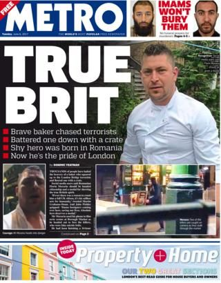 Image result for london metro newspaper""