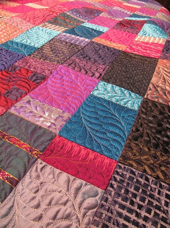 silk quilt by Diana McClun for Laura Nownes | quilts II ... : silk quilt patterns - Adamdwight.com