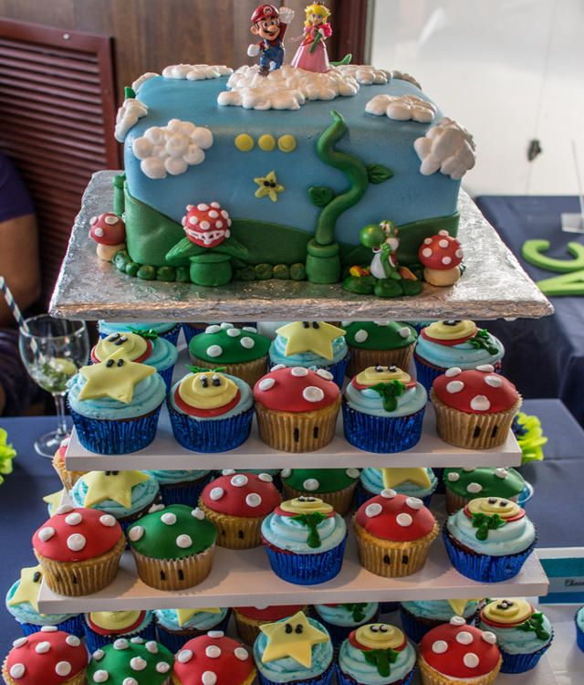 Gaming Cupcakes Video Game Themed Cupcakes With Images Mario