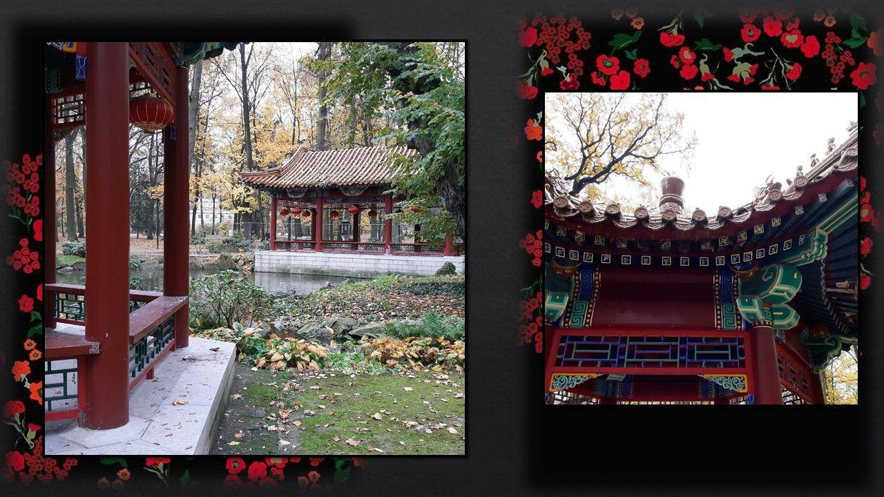 Для товарищей периода барокко, а особенно рококо была характерна любовь ко всевозможной китайщине. В любом уважающем себя дворце тех времен обязательно была какая-нибудь китайская комната, а в парках вот такие китайские беседки и даже небольшие павльоны. Насколько я поняла Лазенки относятся к раннему классицизму, который сохранял еще многие причудливые черты позднего барокко и рококо.