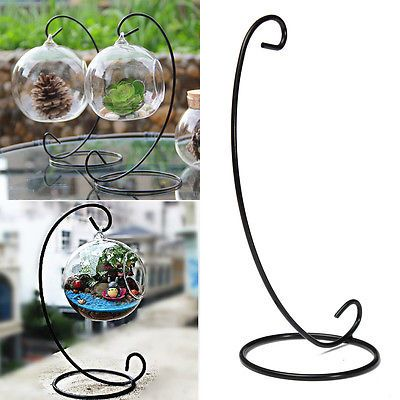 Black Metal Iron Stand Holder For Hanging Plant Pot Plant Vase Home Garden Decor