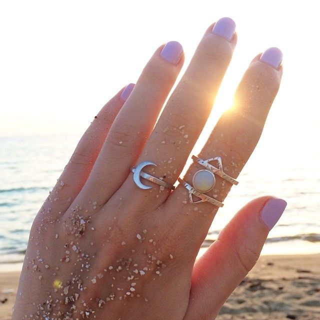 ALOHA GAIA - ATHENA Ring and LUNA Ring from Voices Of The Gaia Collection