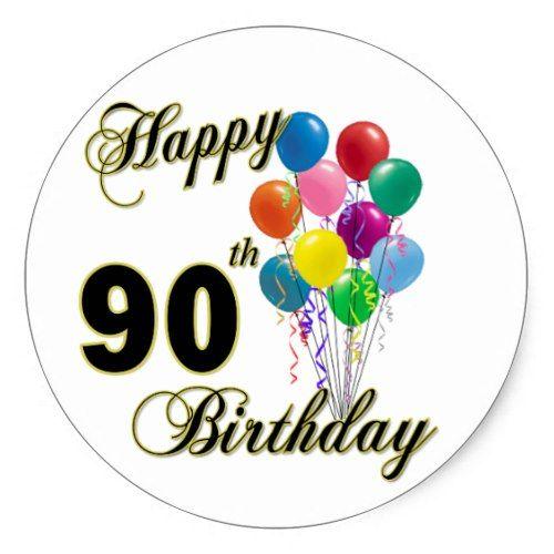Fantastic Happy 90th Birthday Gifts and Birthday Apparel Classic Round  LS01
