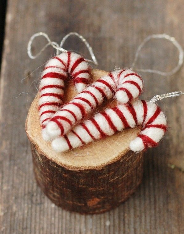 Candy Cane Christmas Decorations Ideas 2014 Cute Felt Candy Cane Christmas Ornaments Christmas Candy