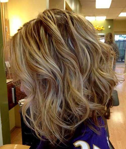 Short brown beachy hair