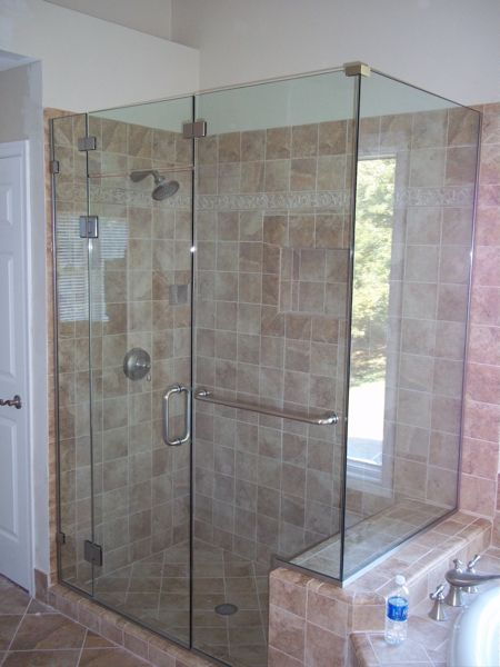 Glass Shower Enclosure Frameless With Towel Bar Bing