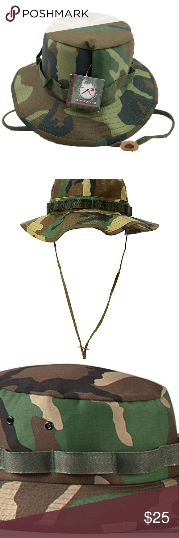 3183f34eec1ba Rothco Xl Woodland Camouflage Military Boonie Hat Rothco Xl Woodland  Camouflage Military Boonie Bucket Camping Hunting