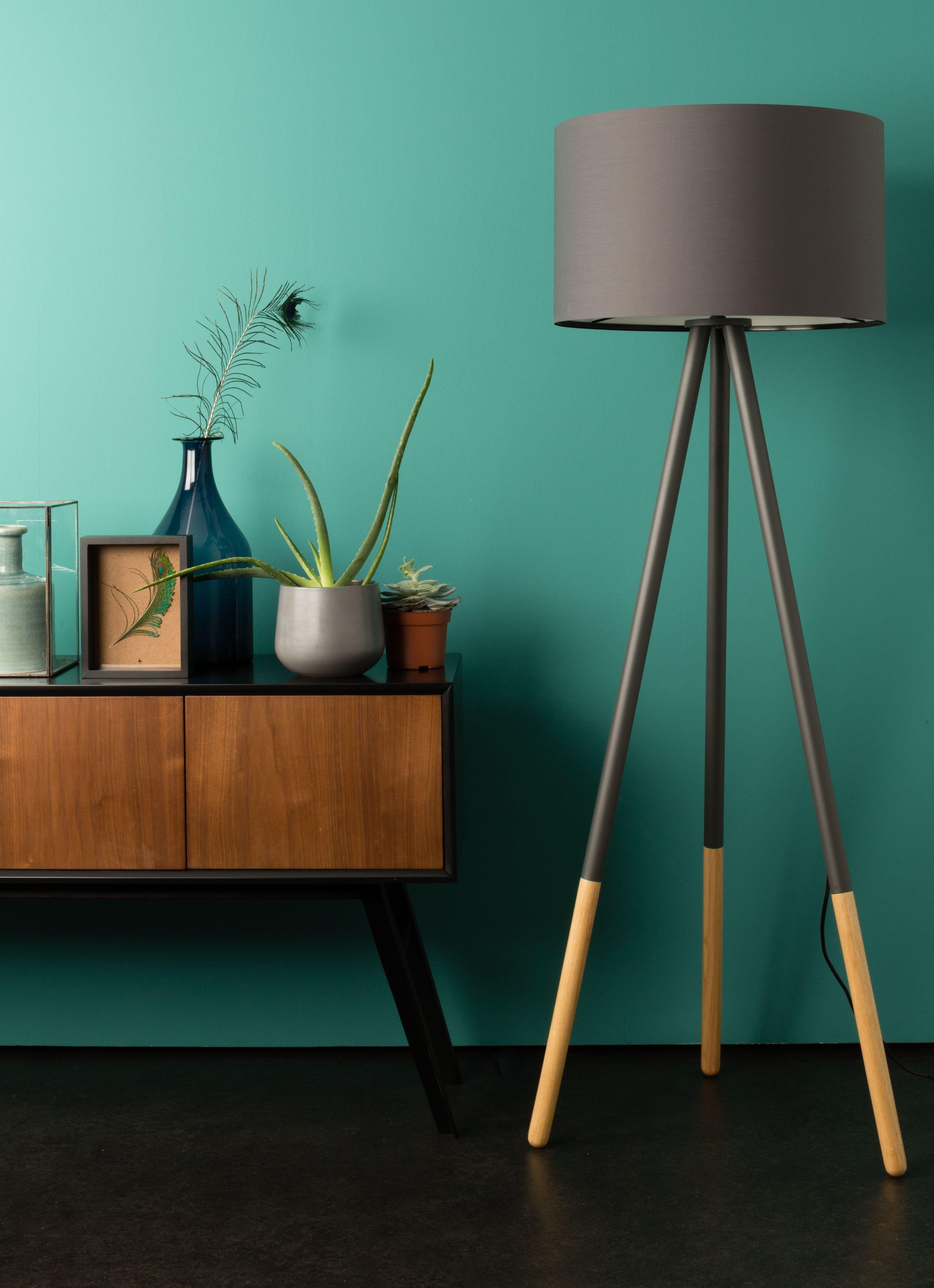 Zuiver Lampa Podlogowa Highland Ciemnoszara Floor Lamp Home Decor Home Deco