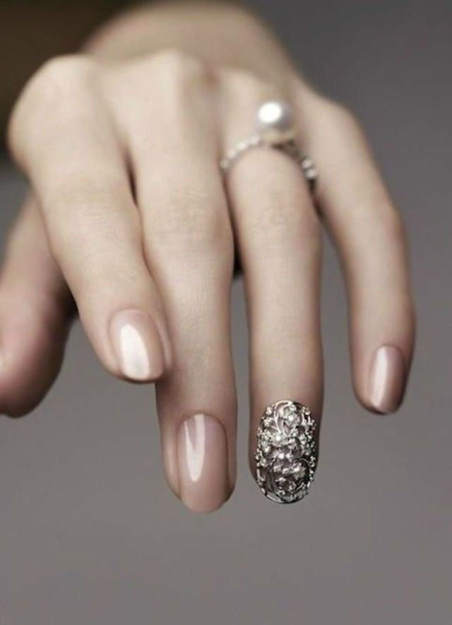 21 Beautiful Bridal Nail Art Design Ideas Pinterest Originals