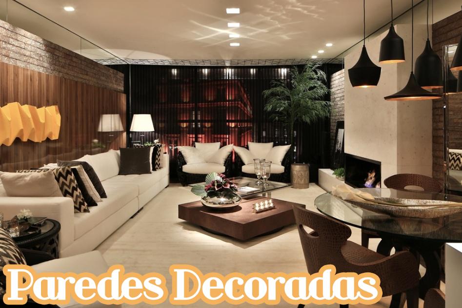 Paredes decoradas e diferentes veja 30 ideias timas for Paredes decoradas