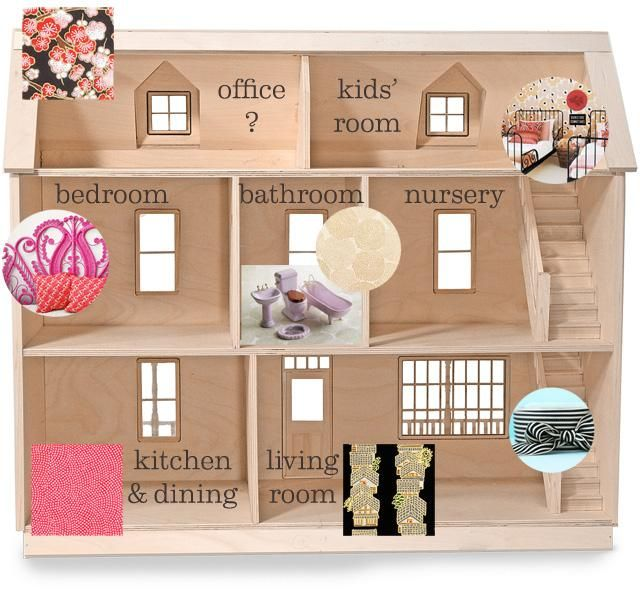 how to build a barbie doll house out of wood google search - Wooden Dollhouses Designs