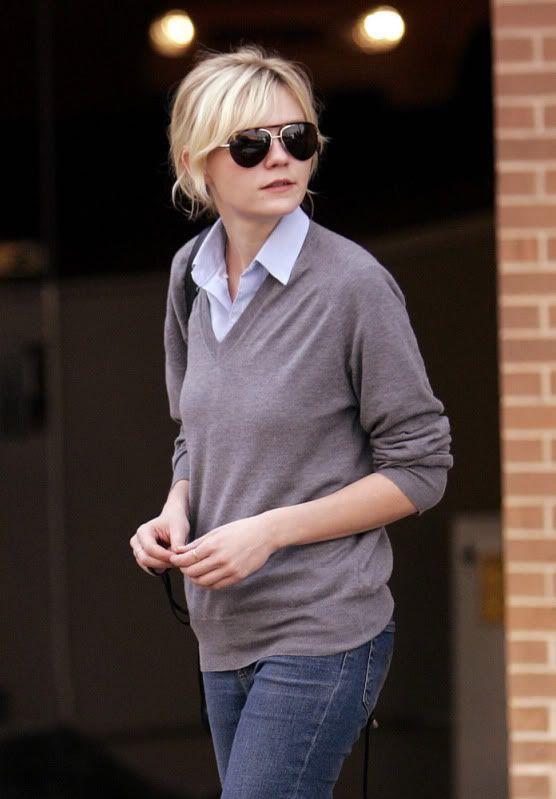 Kirsten Dunst. casual and cute. unpretentious.