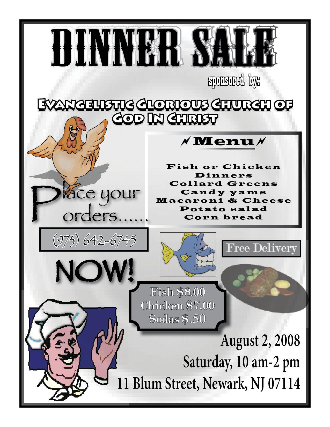dinner sale flyers
