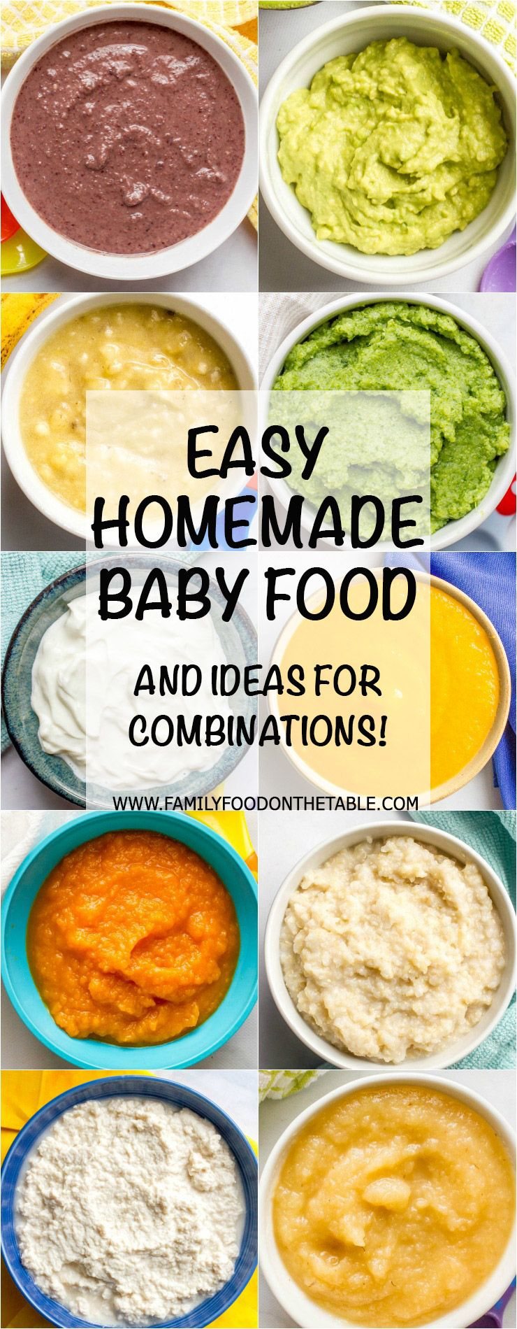 Homemade baby food combinations #homemadebabyfood