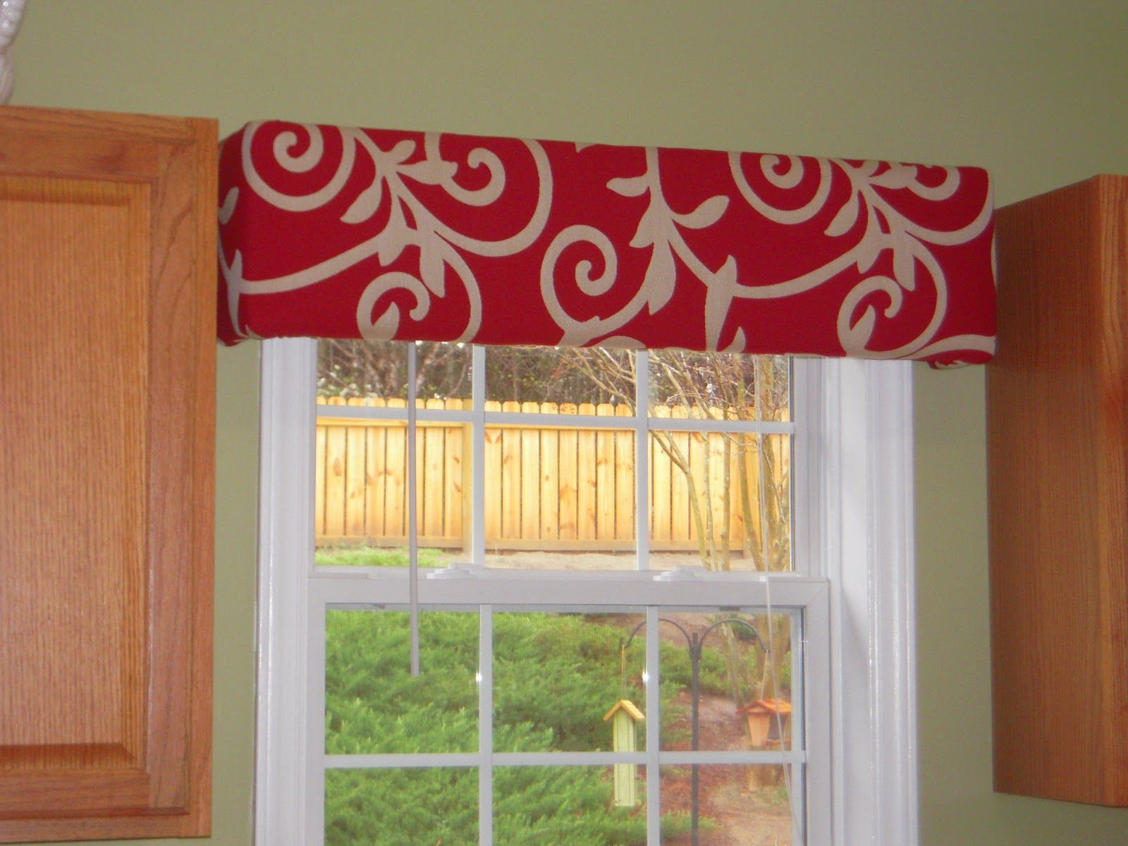 Kitchen curtains window treatments need to spice up your windows try cornice boards a simple - Window treatment ideas for kitchen ...