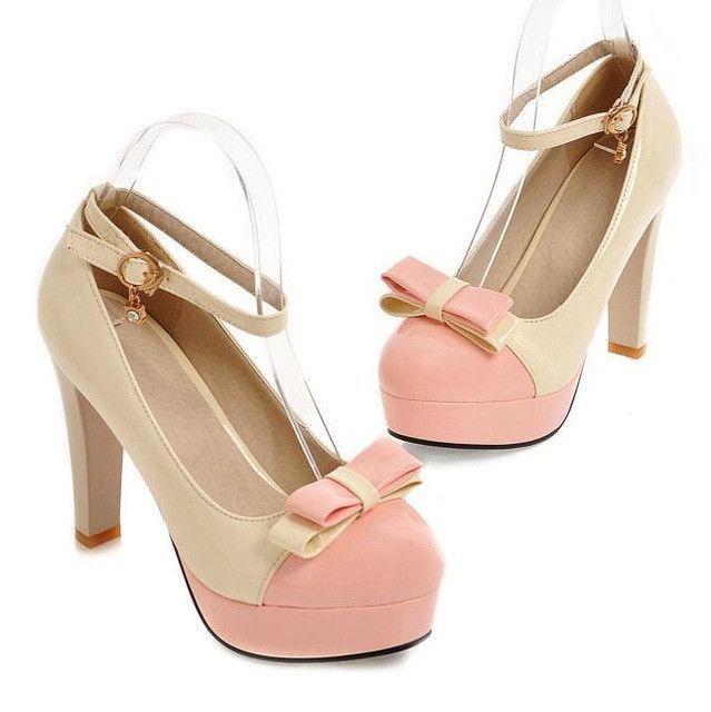 High thick Heels Shoes Spring