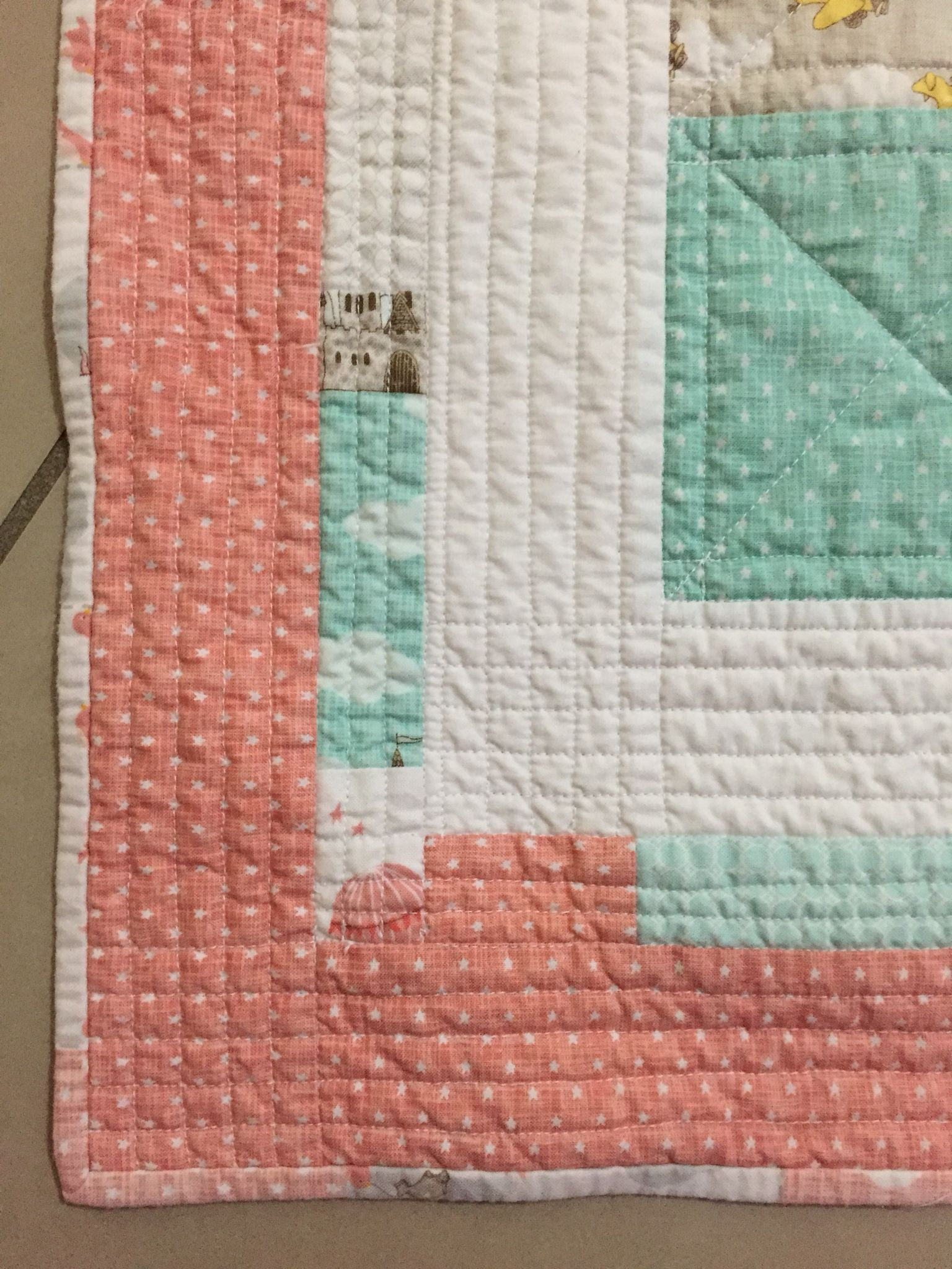 Straight line quilting. Baby quilt. Moda fabric | patchwork quilts ... : fabric lines for quilting - Adamdwight.com