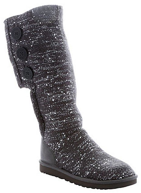 6fa46fa04b0 Ugg charcoal rib knit wool and sequin 'Classic Cardy' tall boots ...