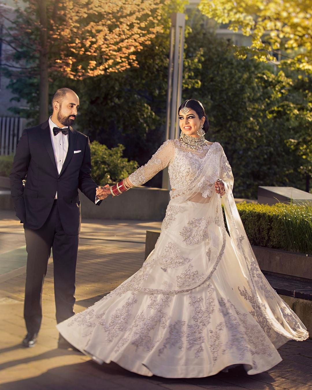 7 Unique Ivory Lehengas We Spotted On Real Brides