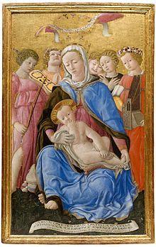 Domenico di Bartolo  (c.1400/1404 -1445/1447), Madonna of humility (1433), Siena, Pinacoteca Nazionale