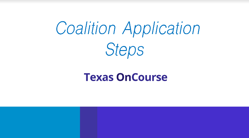 Coalition Application Steps Presentation Click Link to