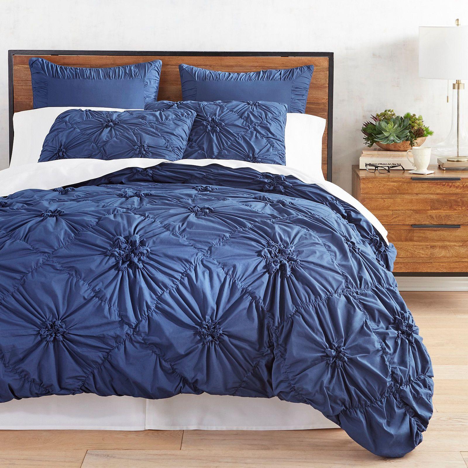 Savannah Midnight Blue Duvet Cover & Sham Pier 1 Imports