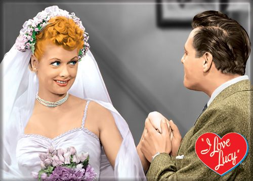I Love Lucy Wedding Dress Magnet