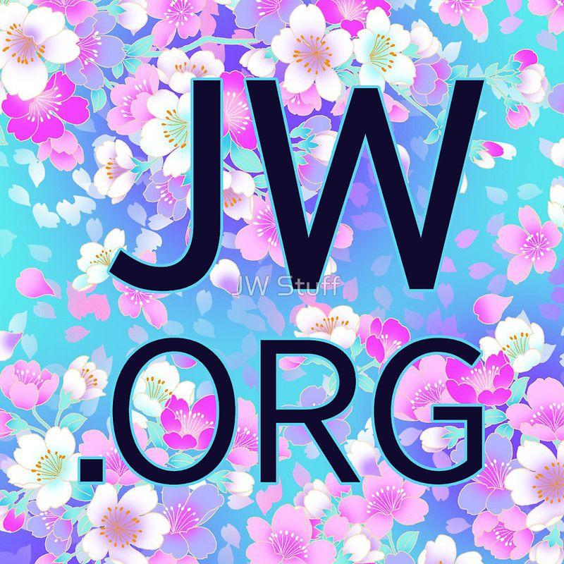 Jw Org Bright Blue And Pink Flowers Quot Stickers By Jw Stuff Imagenes Testigos De Jehova Jw Testigos De Jehova Testigos De Jehova