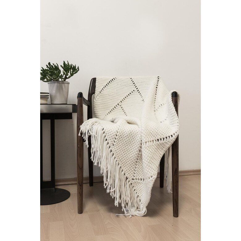 Tunisian Crochet Herringbone Throw