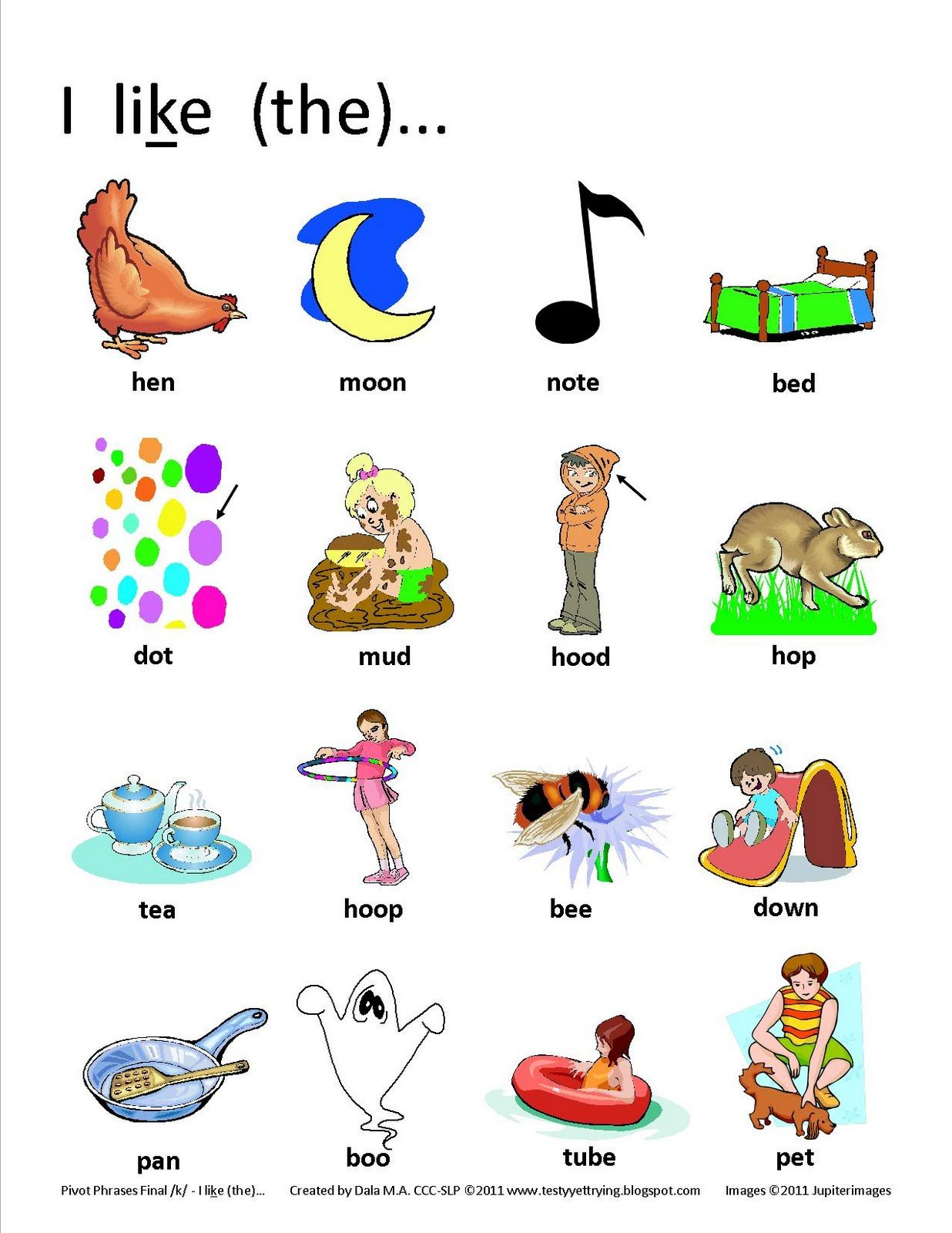 Final K Free Pivot Phrase Picture Prompts