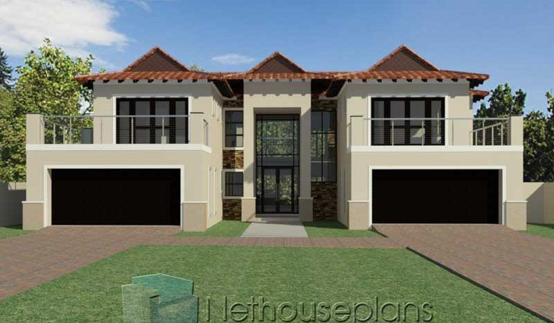 5 Bedroom House Plans Double Storey 3d In South Africa Nethouseplansnethouseplans In 2020 5 Bedroom House Plans Double Storey House Plans Bedroom House Plans