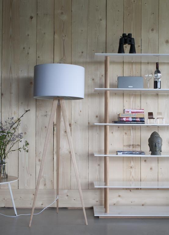 Holz Le Design tripod stehleuchte holz weiß zuiver lilianshouse de