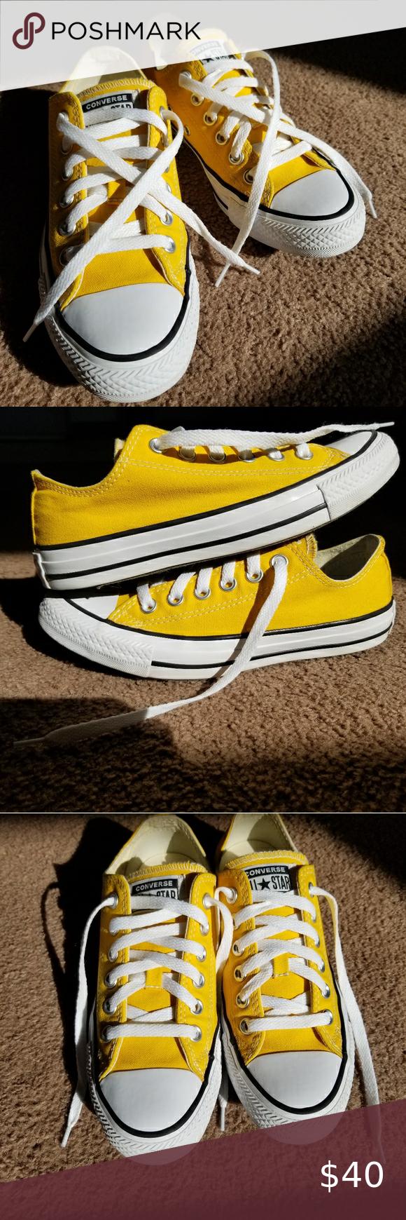 Yellow Converse Sunshine yellow low top