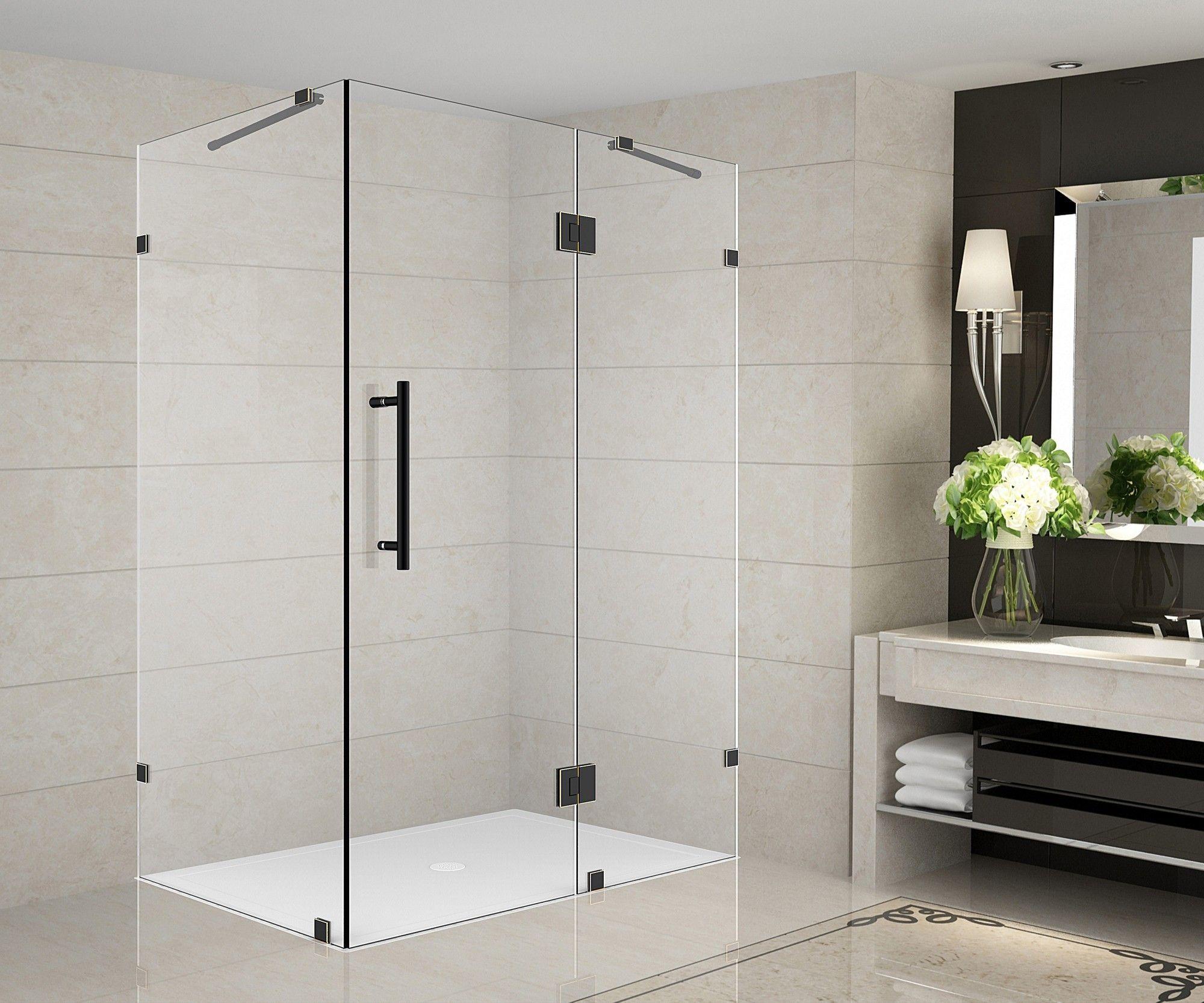 avalux 48 x 72 hinged frameless shower door products frameless rh pinterest com