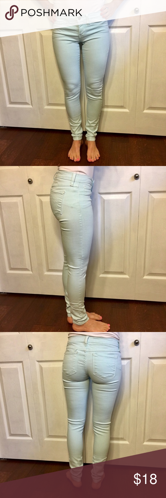 💛 Light Blue Jeans, Perfect For Summer! Super cute jeans for summer! Jeans Skinny