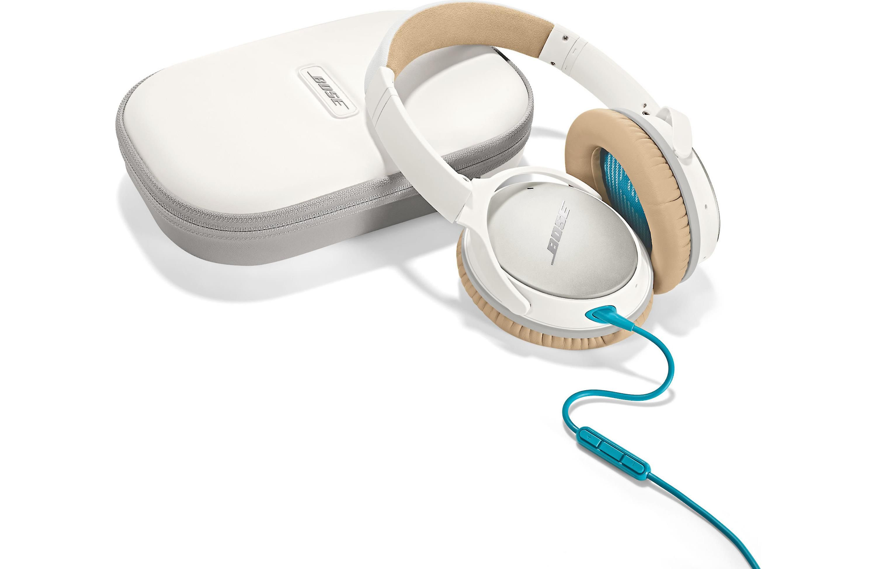 Bose Quietcomfort 25 Acoustic Noise Cancelling Headphones For Apple Devices White At Crutchfield Noise Cancelling Headphones Headphones For Sale Headphones