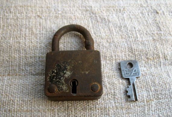 Vintage Working Padlock L57 by Artstock on Etsy, $12.80