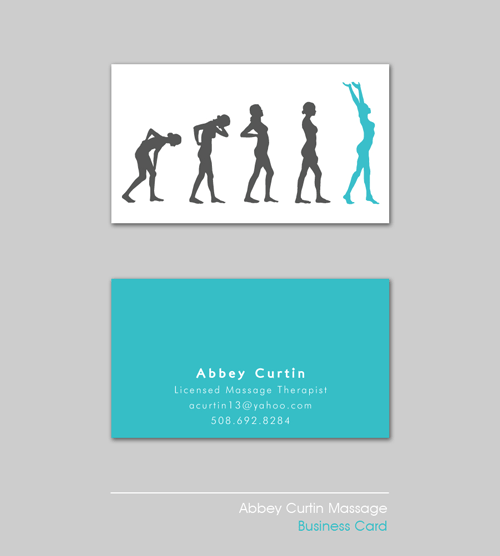 Business card design for a massage therapist who wanted to for Massage therapist business cards ideas