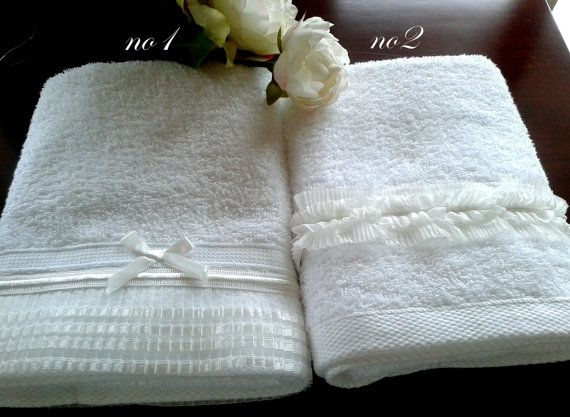 Personalized His and hers lace 3pcs towel by letsdecorateonline, $78.90