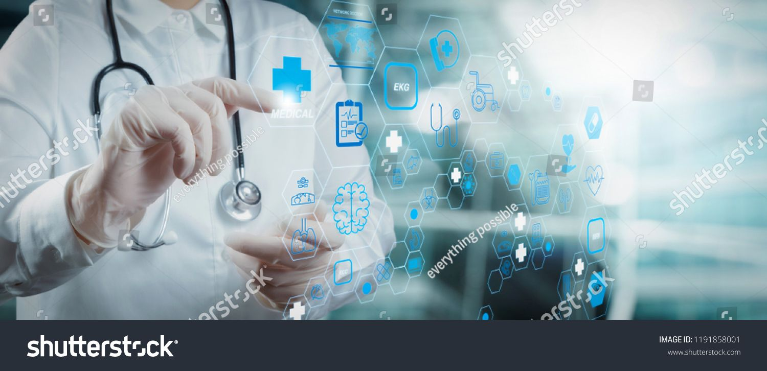Health Care And Medical Technology Services Concept With Cinematography Screen And Ar Interface Smart Medica Medical Technology Health Care Medical Health Care